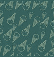 hand drawn ice cream seamless pattern perfect vector image