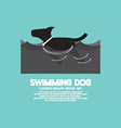 Swimming Dog In The Wave