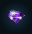 amethyst gemstone shining vector image vector image