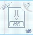 Avi file document icon download avi button line
