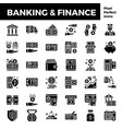 banking and finance solid icon base on pixel vector image vector image