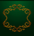 Baroque of vintage elements for design