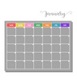 basic calendar icon vector image vector image