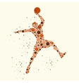 Basketball player concept vector image