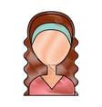 beautiful woman avatar character vector image