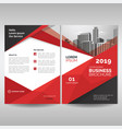business brochure cover template with red vector image vector image
