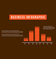 business infographic design graph collection vector image