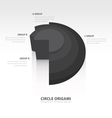 Business Infographics circle origami style black vector image