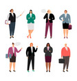 businesswoman in stylish clothes vector image vector image