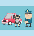 car theft bandit a girl caught the vector image