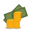 cartoon money earnings design isolated vector image