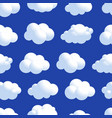 cloud seamless pattern natural air with fluffy vector image vector image