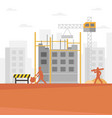 construction builder cartoon vector image vector image