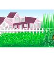 country house garden vector image