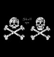 crossbones skull death warning danger or poison vector image