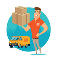 delivery man vector image