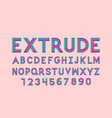 extrude font alphabet vector image vector image