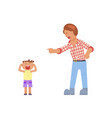 father shouting at child vector image