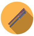 flat design concept ballpoint pen icon long vector image