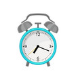 flat icon of alarm clock with bright blue vector image