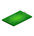 flat isometric view american football field vector image vector image