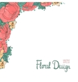 Floral frame made of peonies vector image vector image
