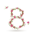 Floral number eight for your design vector image vector image