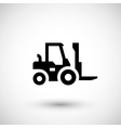 Forklift loader icon vector image