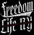 freedom vintage slogan tee graphic design vector image