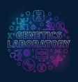 genetics laboratory circular colored line vector image