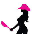girl with pink hat vector image vector image