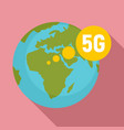 global 5g technology icon flat style vector image vector image