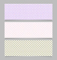 halftone heart pattern banner template background vector image vector image