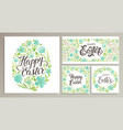 happy easter templates card poster flyer vector image