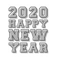 happy new year 2020 background line stamp design vector image vector image