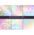 holographic foil patterns trend glitter design vector image