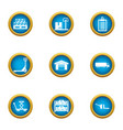 home depot icons set flat style vector image