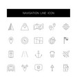 line icons set navigation pack vector image vector image