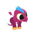 little purple dragon with curious muzzle and vector image vector image