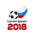 Logo Football Championship 2018 vector image vector image