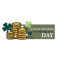 luck of irish saint patrick day isolated icon gold vector image vector image