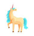 magical unicorn horse with turquoise mane vector image vector image