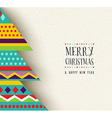 Merry Christmas and new year fun tree design vector image vector image