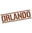 orlando brown square stamp vector image vector image