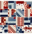 Patchwork in country style vector image vector image