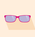 pink glassess long shadow flat design yellow vector image vector image