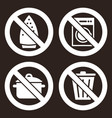 prohibited sign set vector image vector image