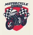 retro motorcycle racing badge design vector image vector image