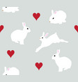 seamless bunnies background vector image