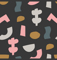 Seamless pattern with cut out elements